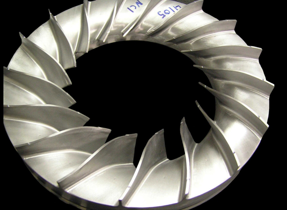 compressor impeller - bladed cover